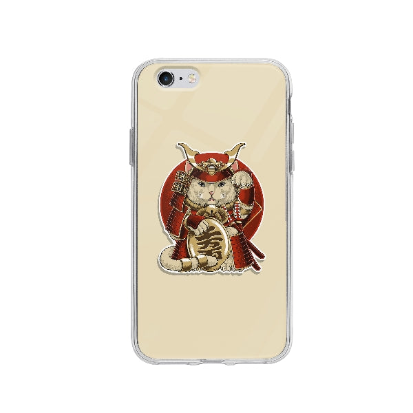 Coque Chat Samurai pour iPhone 6 - Transparent