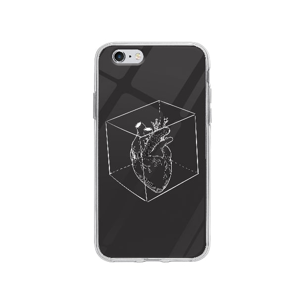Coque Coeur Capturé pour iPhone 6 - Transparent
