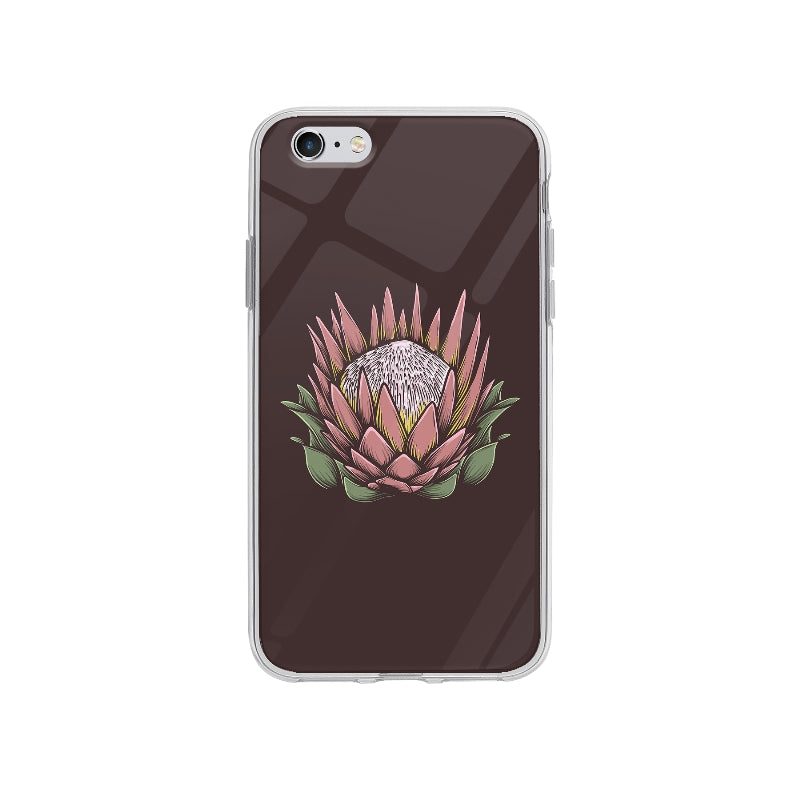 Coque Dessin Fleur Vintage pour iPhone 6S Plus - Transparent