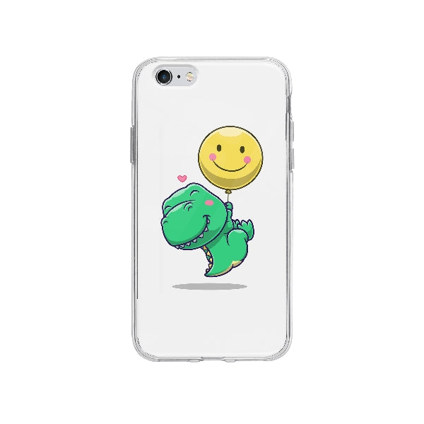 Coque Dinosaure Mignon Flottant pour iPhone 6S Plus - Transparent