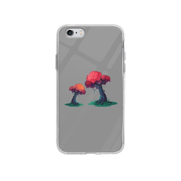 Coque Illustration Arbres pour iPhone 6S Plus - Transparent