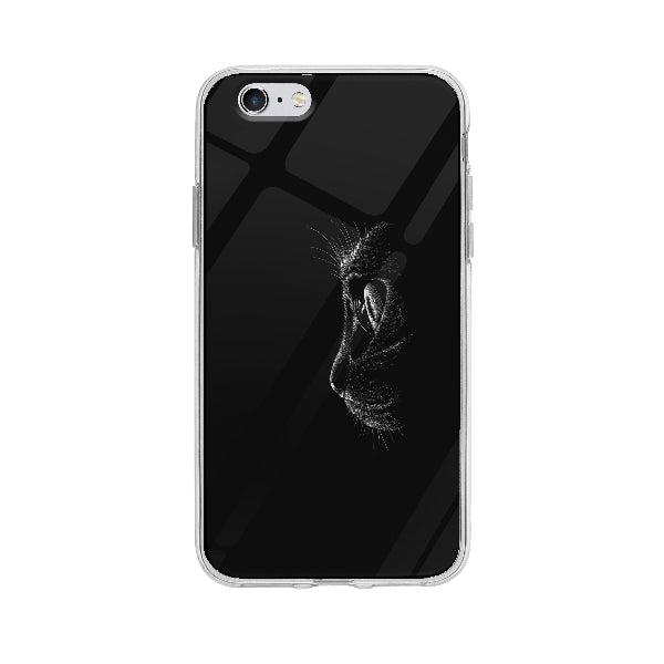 Coque Chat Noir pour iPhone 6S - Transparent