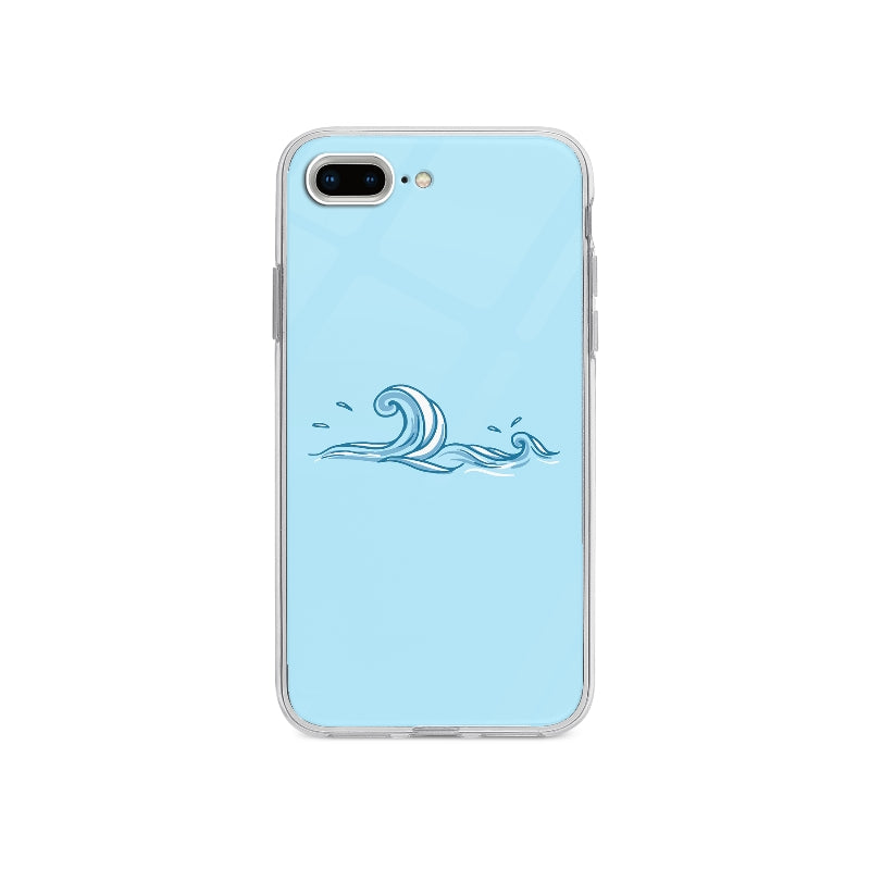 Coque Vague Dessinée A La Main pour iPhone 7 Plus - Transparent