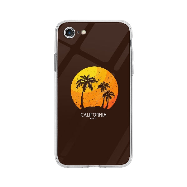 Coque California Beach pour iPhone 7 - Transparent