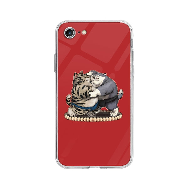 Coque Chats Sumo pour iPhone 7 - Transparent
