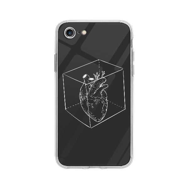 Coque Coeur Capturé pour iPhone 7 - Transparent
