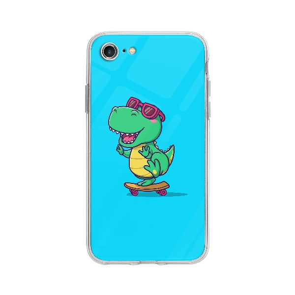 Coque Dinosaure En Skateboard pour iPhone 7 - Transparent