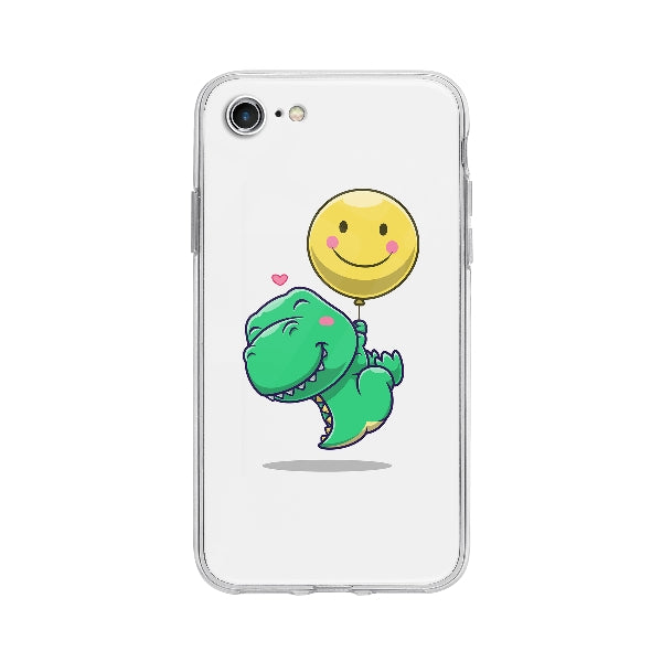 Coque Dinosaure Mignon Flottant pour iPhone 7 - Transparent