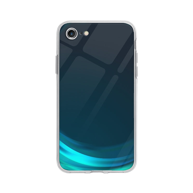 Coque Vague Bleu pour iPhone 7 - Transparent