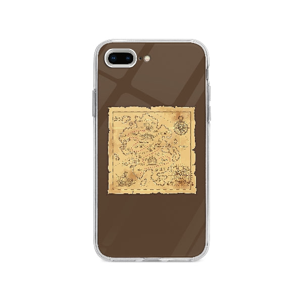 Coque Carte Au Trésor Pirate pour iPhone 8 Plus - Transparent