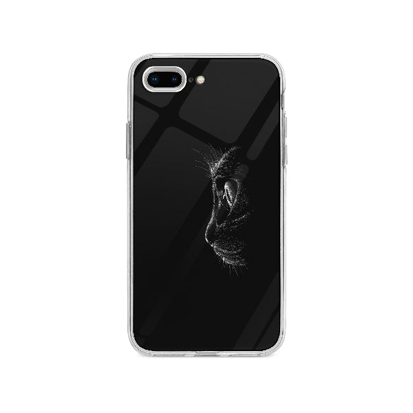 Coque Chat Noir pour iPhone 8 Plus - Transparent