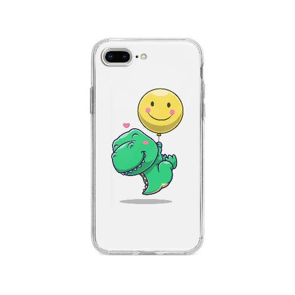 Coque Dinosaure Mignon Flottant pour iPhone 8 Plus - Transparent