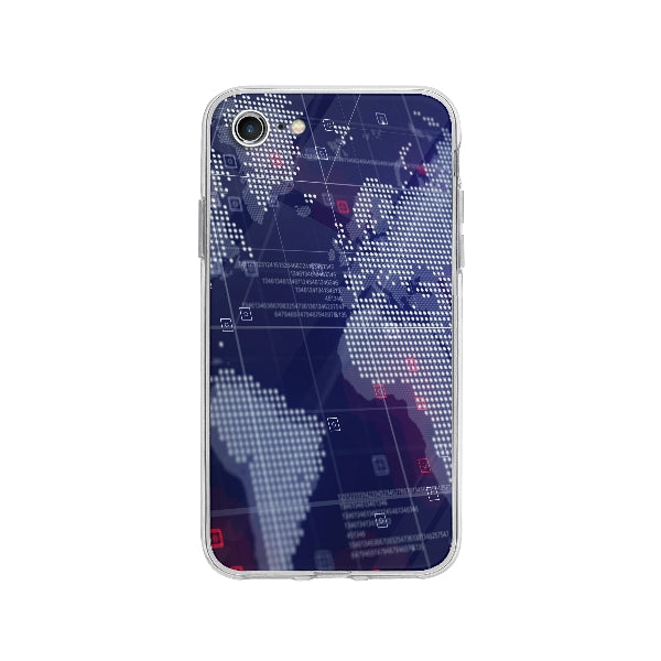 Coque Carte Du Monde Holographique pour iPhone 8 - Transparent