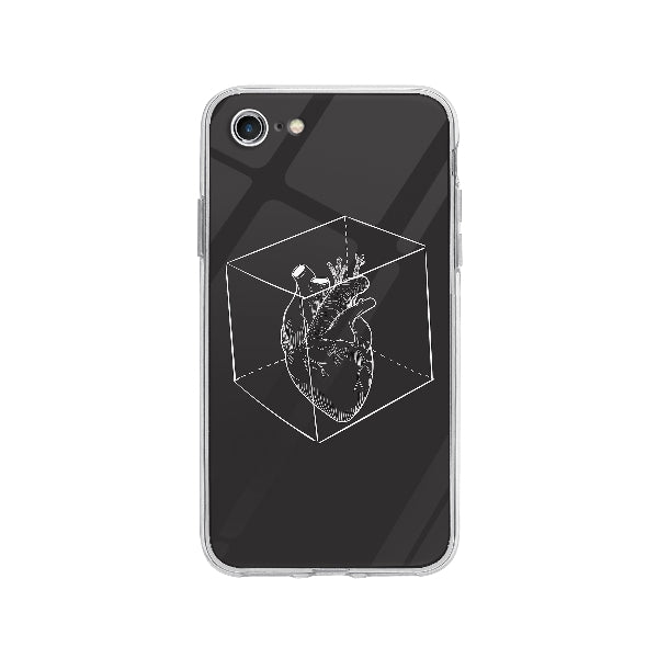 Coque Coeur Capturé pour iPhone 8 - Transparent