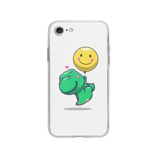 Coque Dinosaure Mignon Flottant pour iPhone 8 - Transparent