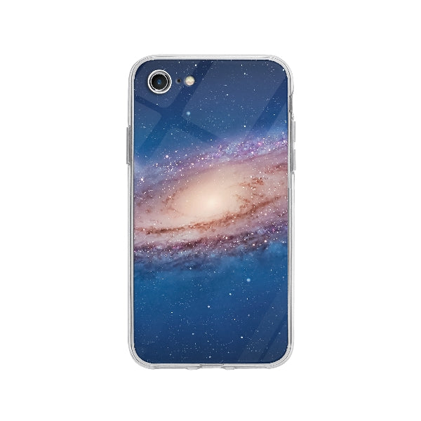 Coque Galaxy pour iPhone 8 - Transparent