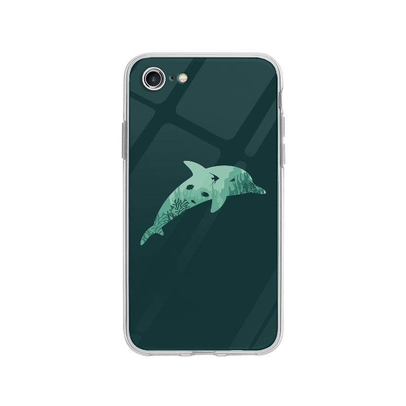 Coque Silhouette Dauphin pour iPhone 8 - Transparent