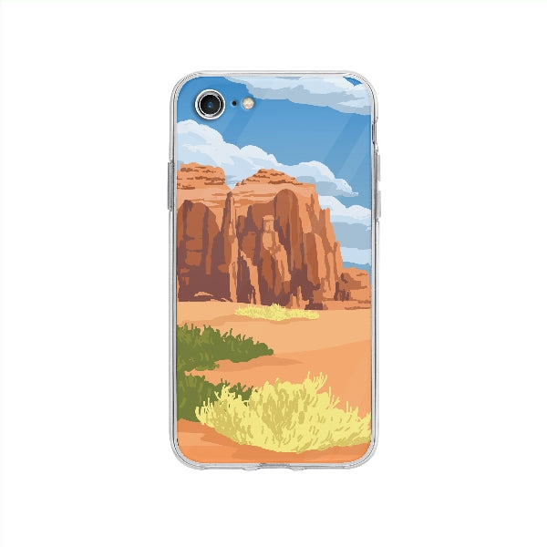 Coque Biome Déserte pour iPhone SE 2020 - Transparent