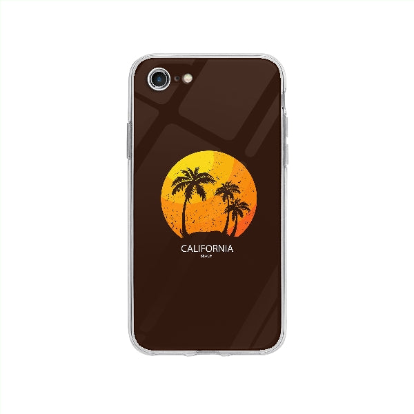 Coque California Beach pour iPhone SE 2020 - Transparent