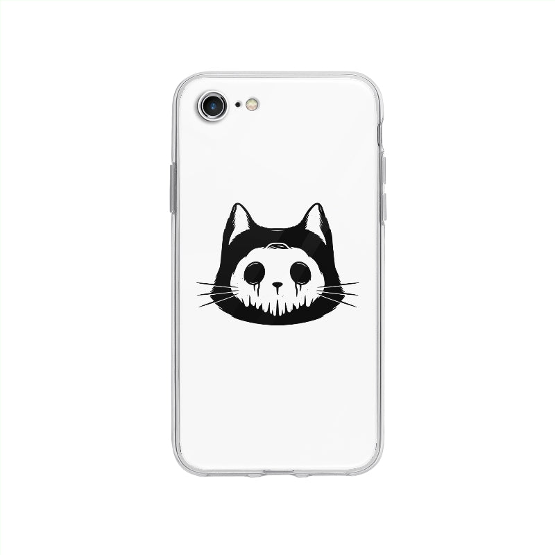 Coque Chat Masqué pour iPhone SE 2020 - Transparent