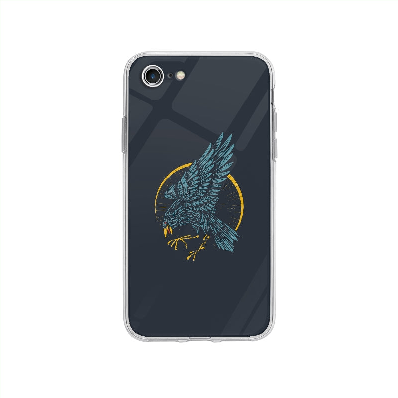 Coque Corbeau Vintage pour iPhone SE 2020 - Transparent