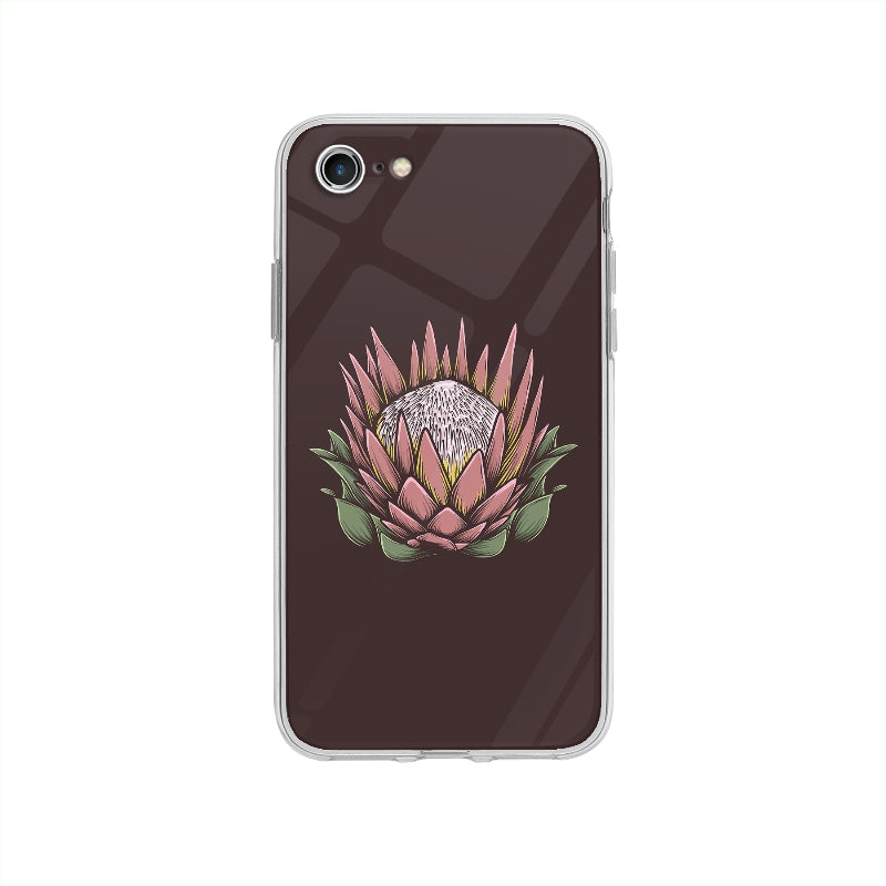 Coque Dessin Fleur Vintage pour iPhone SE 2020 - Transparent