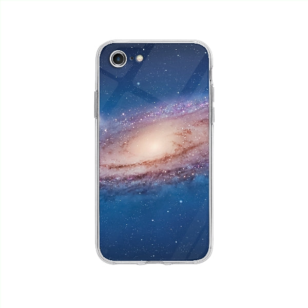 Coque Galaxy pour iPhone SE 2020 - Transparent