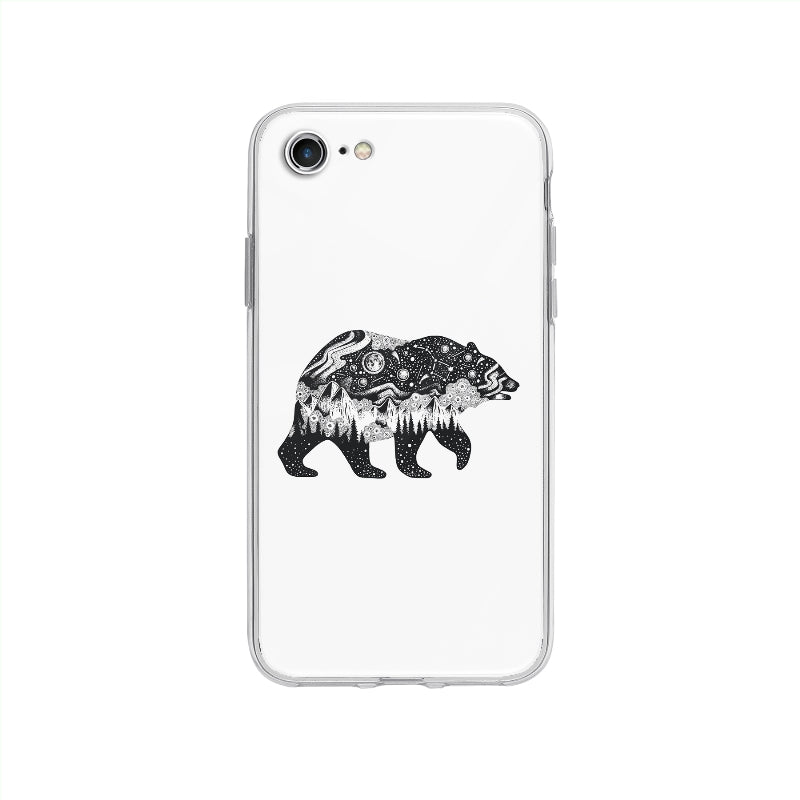 Coque Univers En Ours pour iPhone SE 2020 - Transparent
