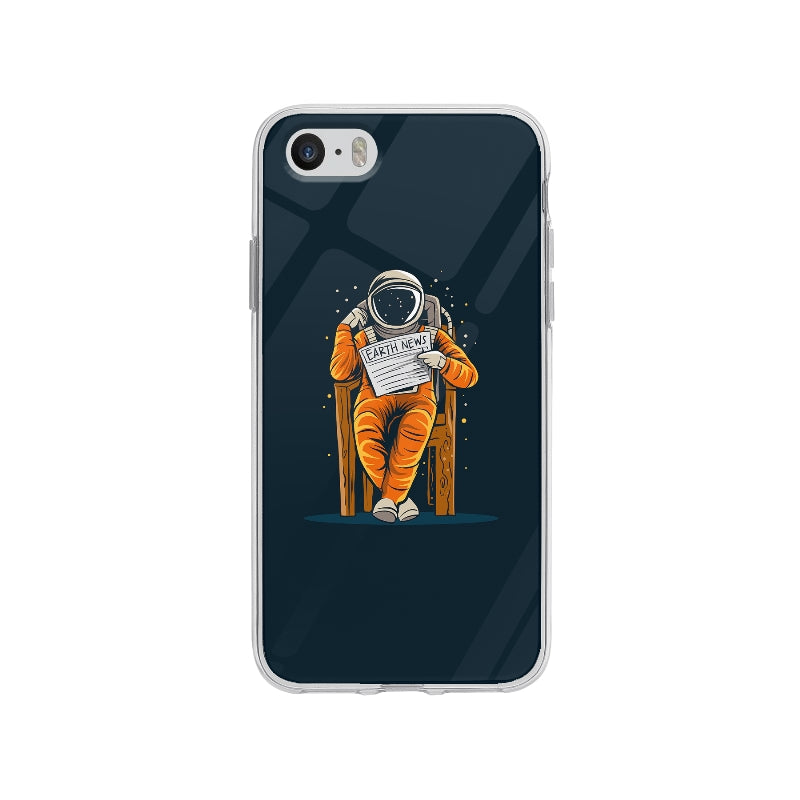Coque Astronaute Assis pour iPhone SE - Transparent