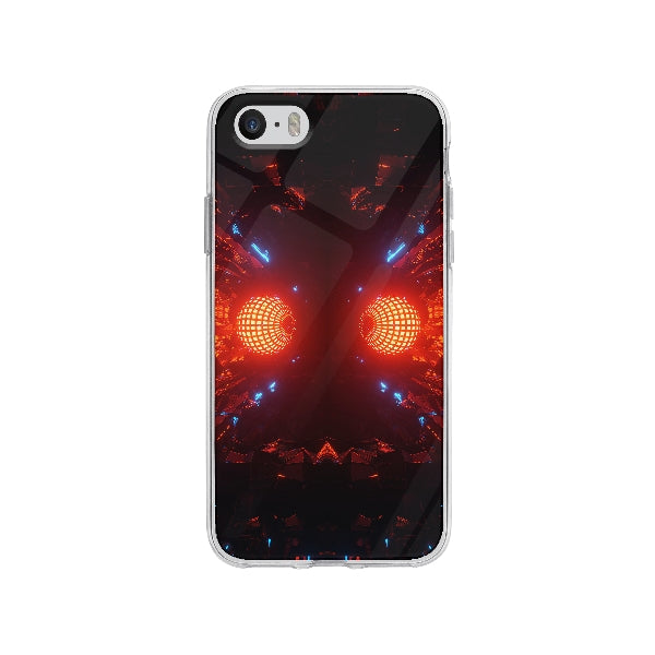 Coque Boule Disco Futuristique pour iPhone SE - Transparent