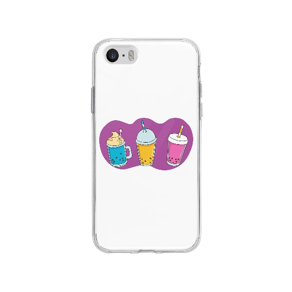 Coque Bubble Tea pour iPhone SE - Transparent