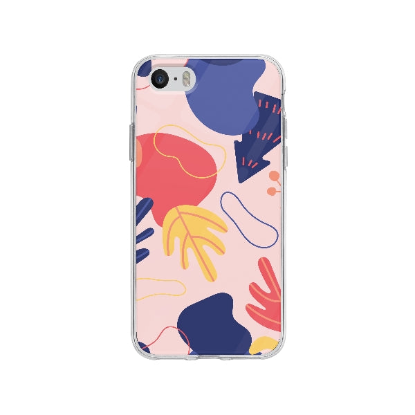 Coque Dessin Abstrait pour iPhone SE - Transparent