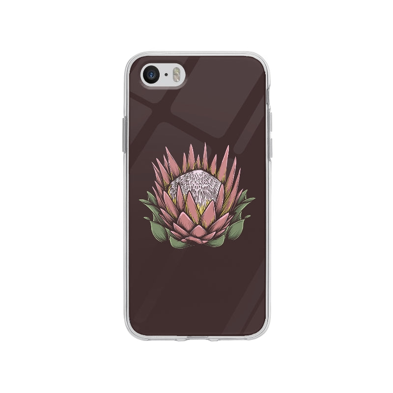 Coque Dessin Fleur Vintage pour iPhone SE - Transparent