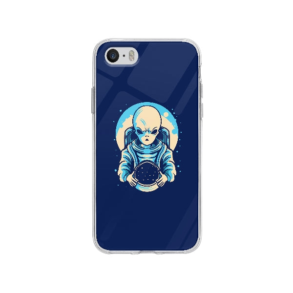 Coque Extraterrestre Astronaute pour iPhone SE - Transparent