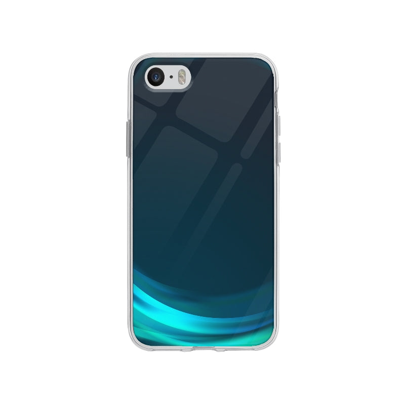 Coque Vague Bleu pour iPhone SE - Transparent