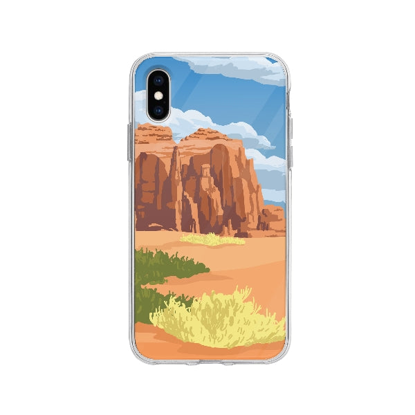 Coque Biome Déserte pour iPhone X - Transparent