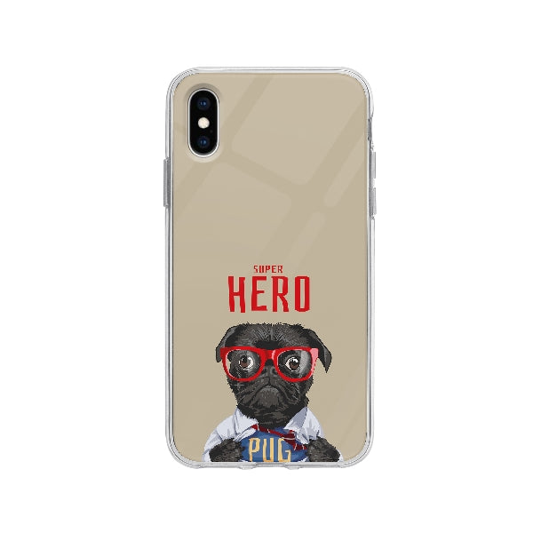Coque Carlin Super Héro pour iPhone X - Transparent