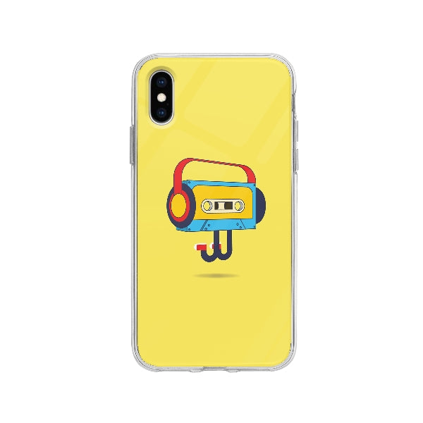 Coque Cassette Sautante pour iPhone X - Transparent