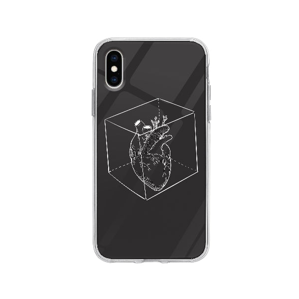 Coque Coeur Capturé pour iPhone X - Transparent