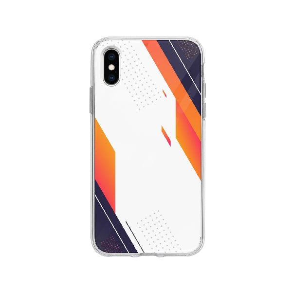 Coque Design Abstrait pour iPhone X - Transparent