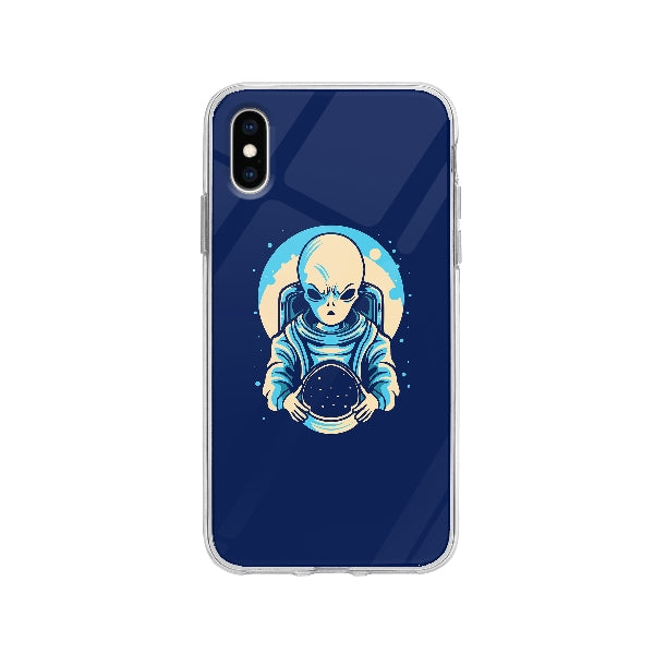 Coque Extraterrestre Astronaute pour iPhone X - Transparent