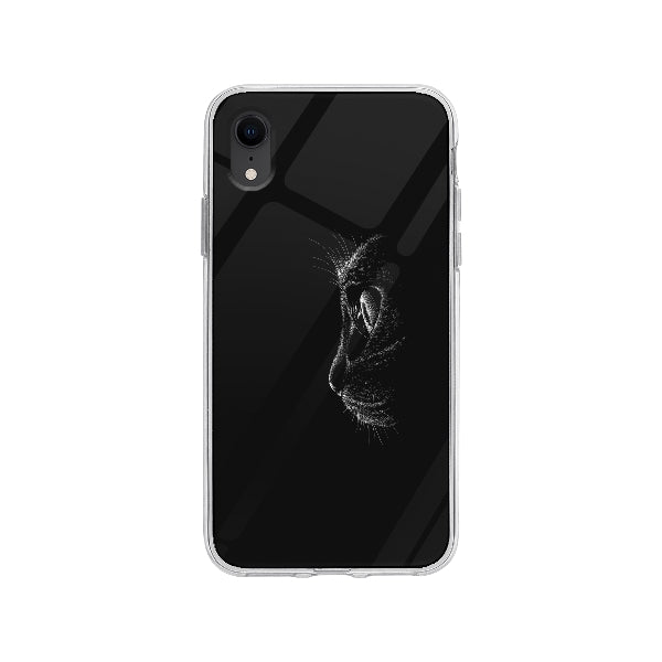 Coque Chat Noir pour iPhone XR - Transparent