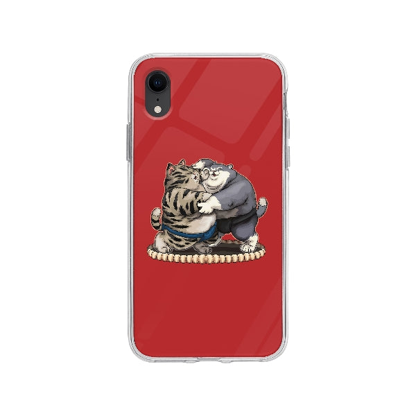 Coque Chats Sumo pour iPhone XR - Transparent