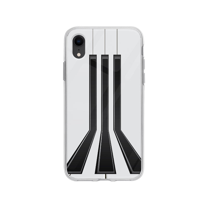 Coque Notes De Piano pour iPhone XR - Transparent