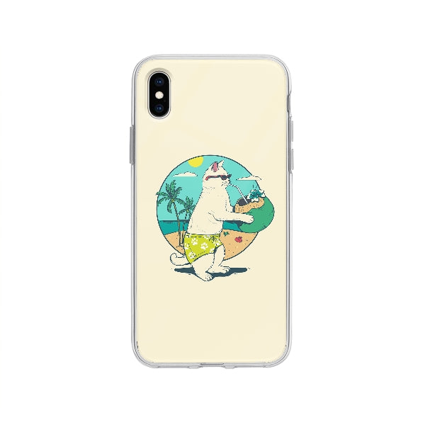 Coque Chat En Vacances pour iPhone XS Max - Transparent