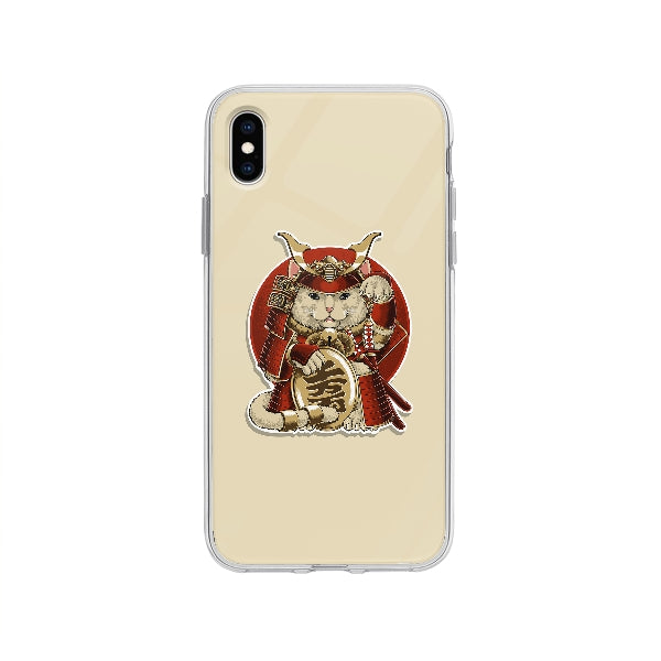 Coque Chat Samurai pour iPhone XS Max - Transparent