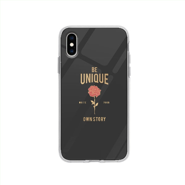 Coque Be Unique pour iPhone XS - Transparent