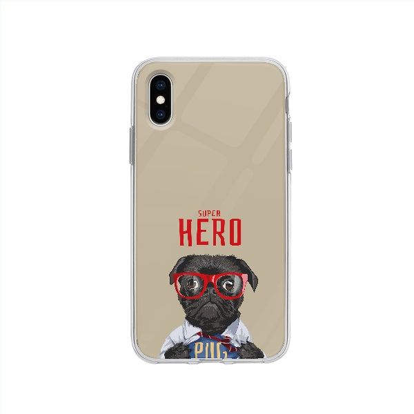 Coque Carlin Super Héro pour iPhone XS - Transparent