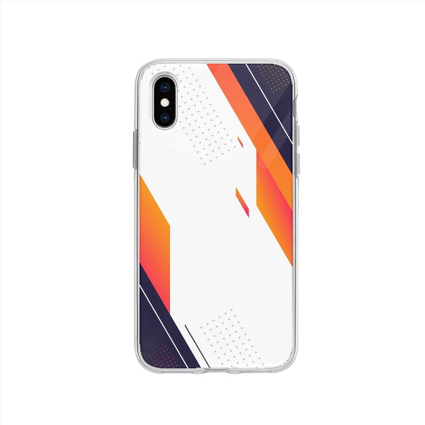 Coque Design Abstrait pour iPhone XS - Transparent