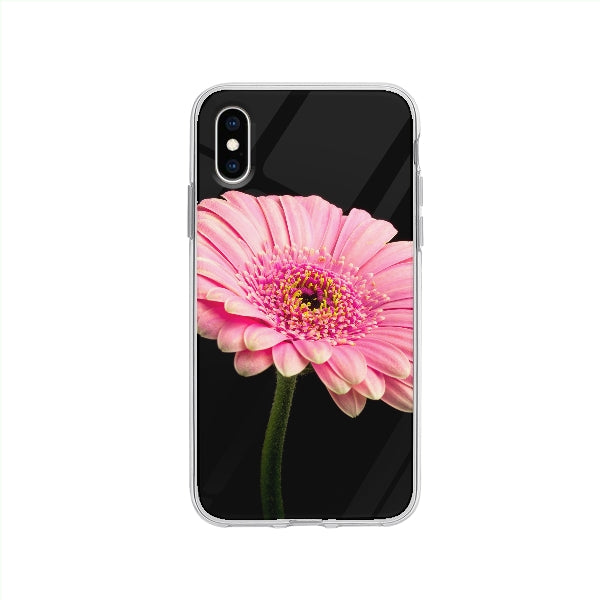 Coque Fleur pour iPhone XS - Transparent